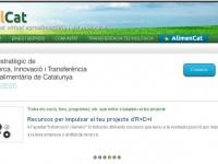 La web del Plan Estratégico de Investigación, Innovación y Transferencia Agroalimentaria de Cataluña, en marcha