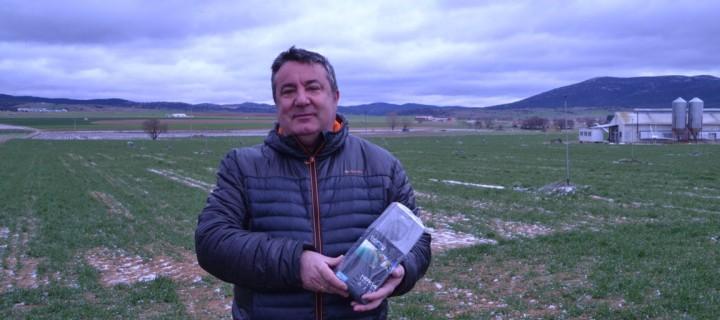 Francisco Lázaro, ganador del sorteo de la GoPro de Innovagri en FIMA 2016