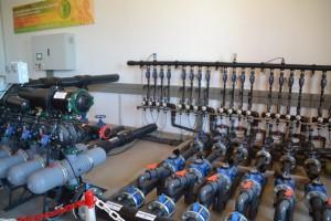 En la finca experimental han instalado un sistema de riego con seis líneas hidráulicas.