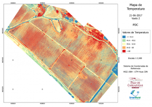 Mapa vuelo dron temperatura