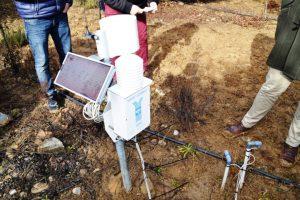 Minicentral para el control del aporte de agua en la plantación
