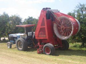 Equipo de recolección mecanizada por aire desarrollado en Florida