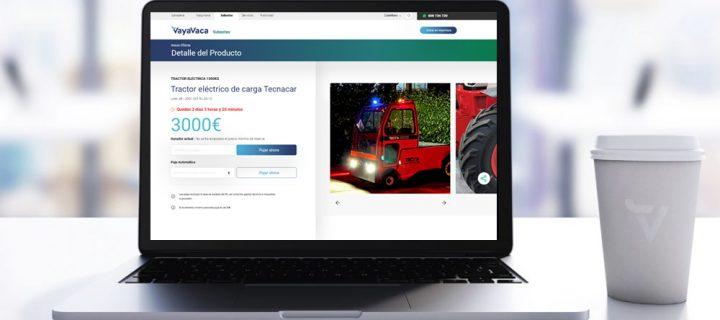 La plataforma de compra venta de ganado VayaVaca amplía su oferta a la maquinaria