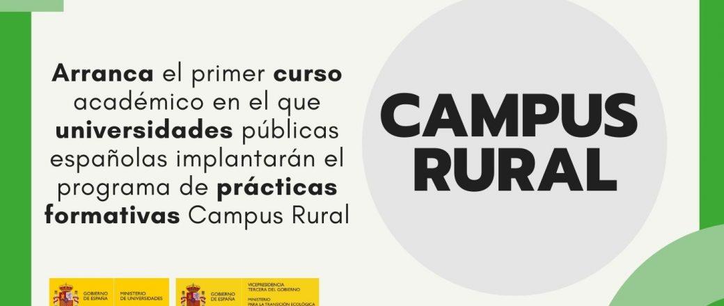 Arranca el primer curso académico del programa Campus Rural